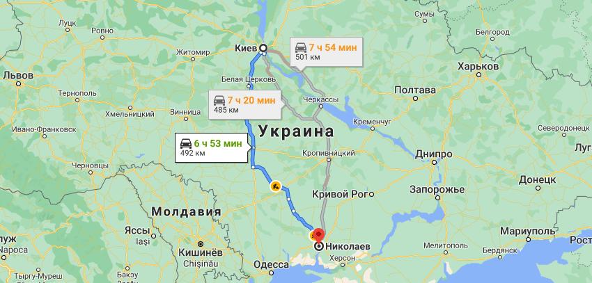 Грузоперевозки Киев Николаев